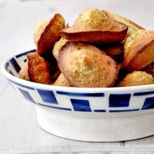 madeleines au citron et pavot