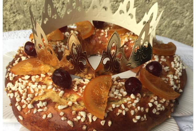 Brioche des rois à la fleur d'oranger et fruits confits