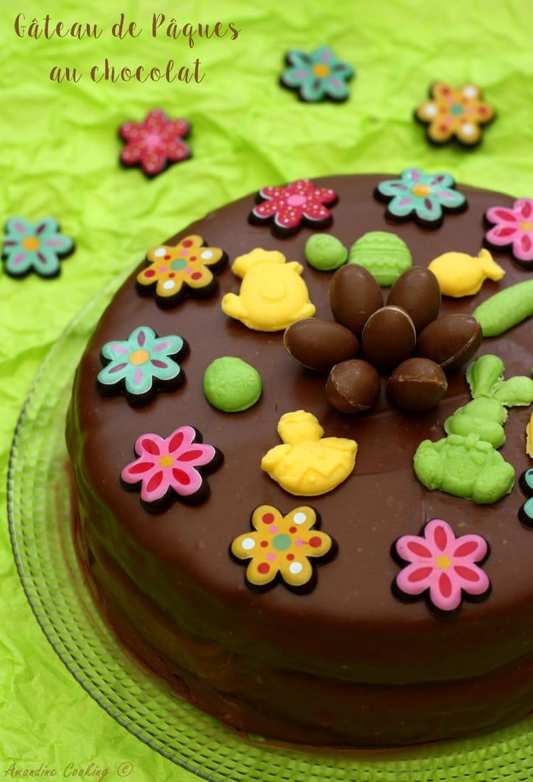 Recette de Gâteau au chocolat facile pour Pâques : la ...