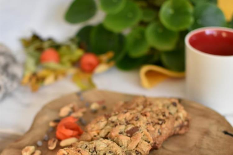 Cookies cacahuète, deux chocolats (sucre Rapadura et vergeoise blonde)
