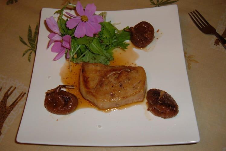 Foie gras poêlé et figues confites au Muscat