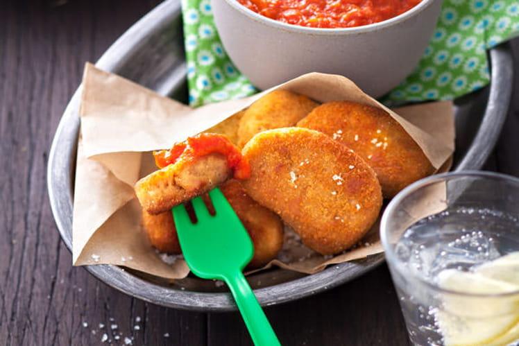 Nuggets végétaux, dip oriental
