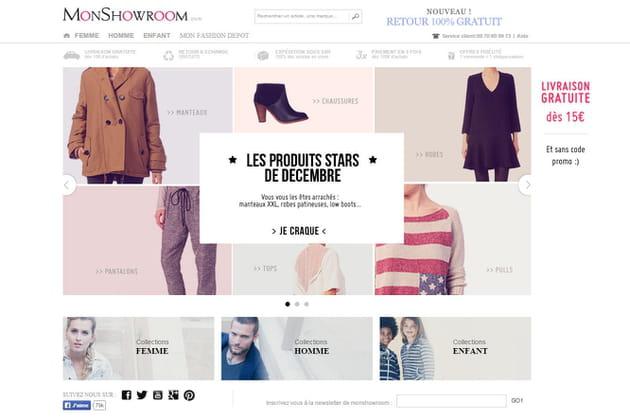Le e-shop de Monshowroom