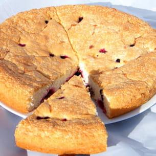 gâteau léger citron et fruits rouges