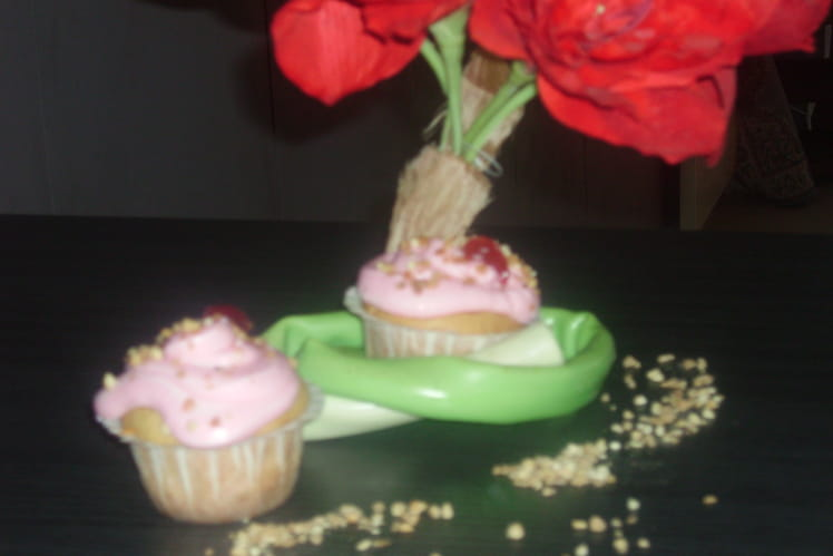 Cupcake d'amour chocofraise