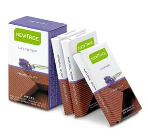 ce chocolat contient un extrait naturel de tilleul et de lavande reconnus pour
