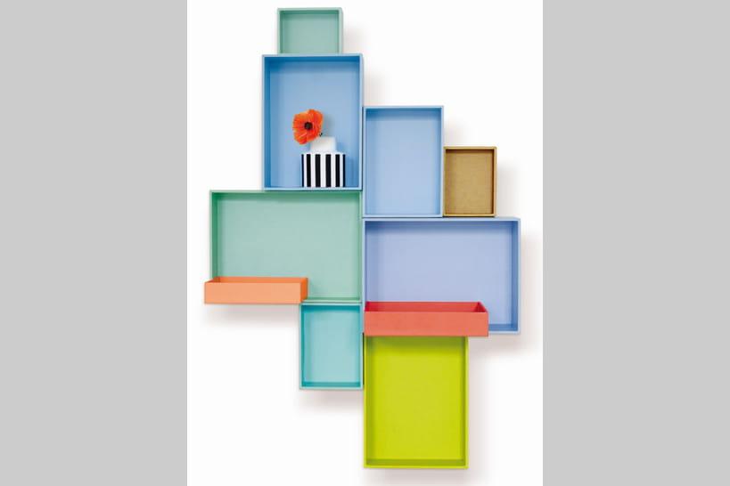 tendance d co la mini tag re murale. Black Bedroom Furniture Sets. Home Design Ideas