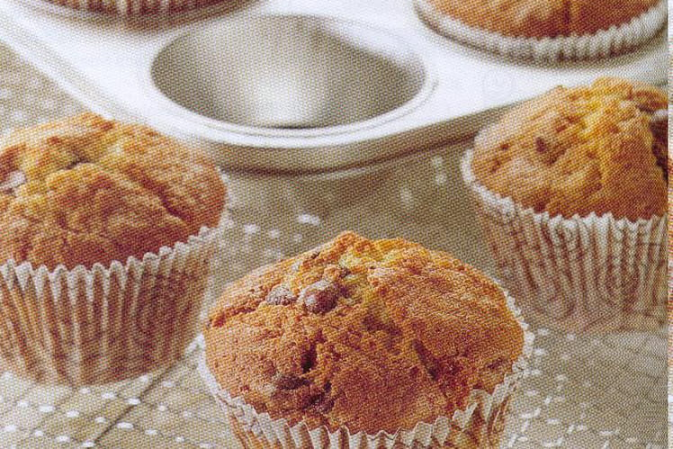 Muffins aux pépites de chocolat classiques