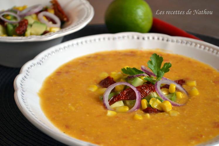 Soupe au maïs et chorizo