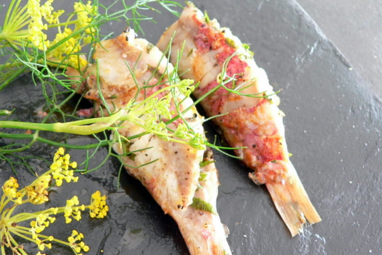 Rougets farcis aux herbes