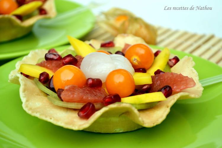 recette de salade de fruits exotiques rhum et citron vert la recette facile. Black Bedroom Furniture Sets. Home Design Ideas