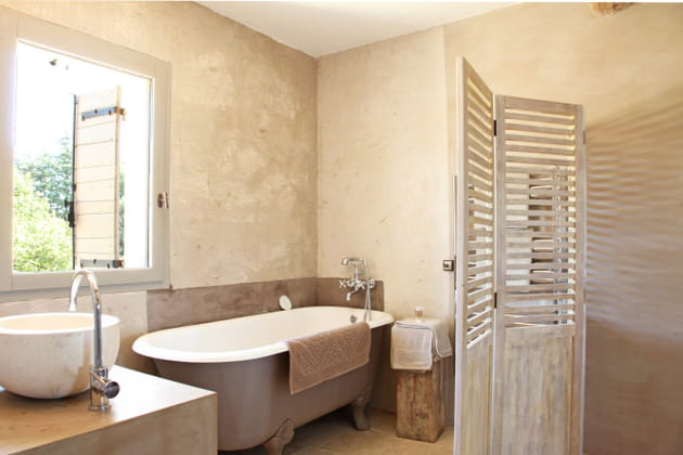Une cloison de salle de bains for Paravent salle de bain