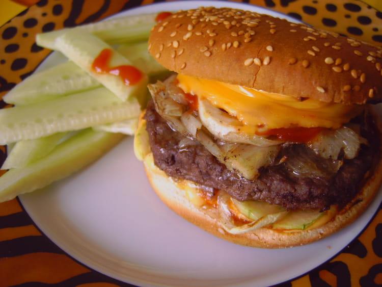 Hamburger maison la meilleure recette - Recette hamburger maison original ...