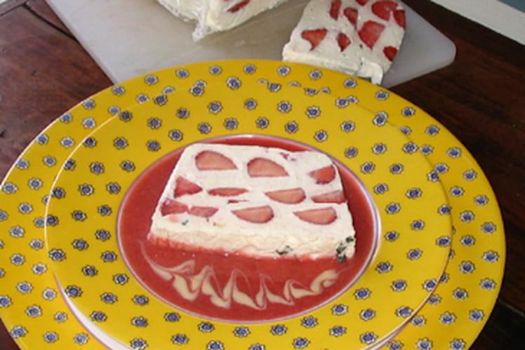 Terrine de fraises au citron et basilic