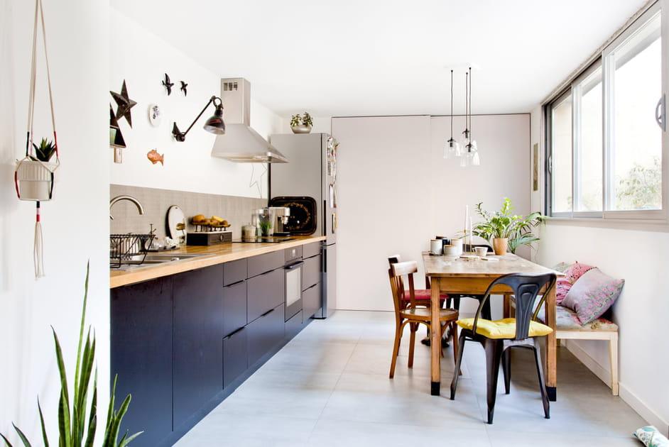 Une cuisine en I le long du mur