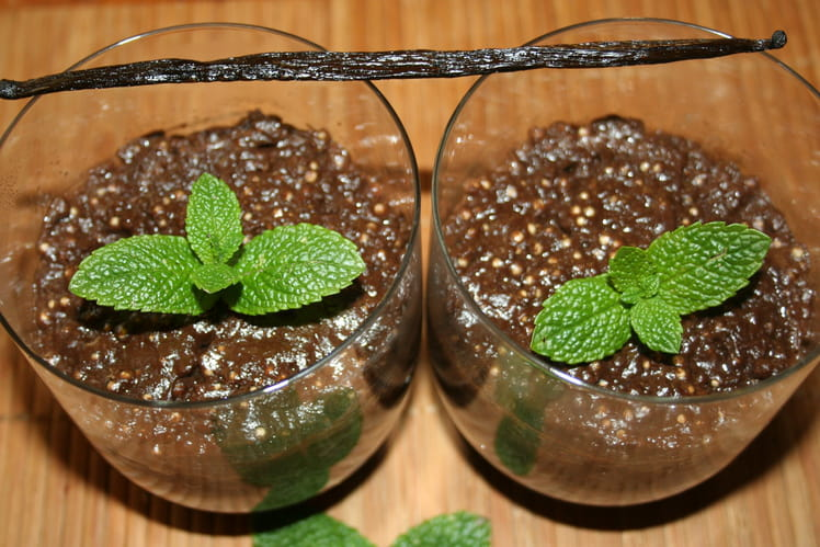 Verrine d'Orient : perles chocolat vanille