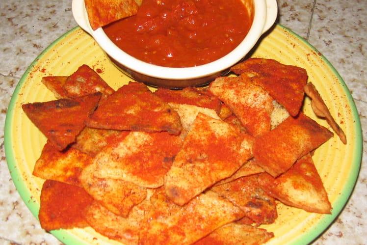 Tortillas et sauce au piment