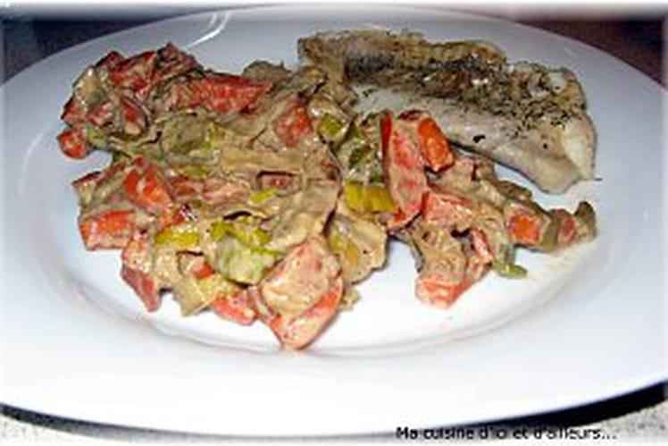 Légumes crémeux et sucrés