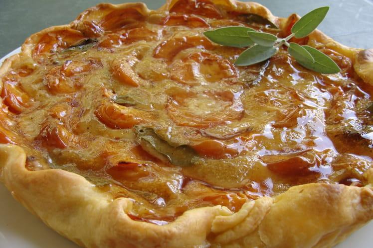 Tarte amandine aux abricots et sauge