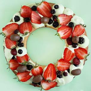 tarte aux fraises de pâques
