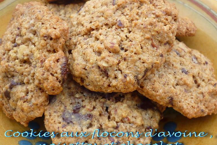Cookies aux flocons d'avoine, noisettes et pépites de chocolat