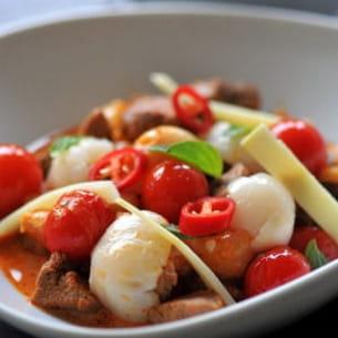 curry rouge de canard aux ramboutans