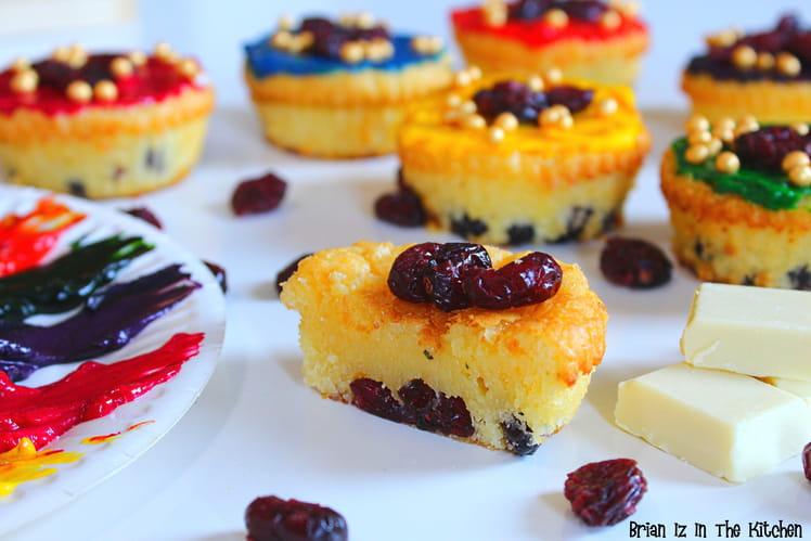 Brownies au chocolat blanc et aux cranberries façon cupcake
