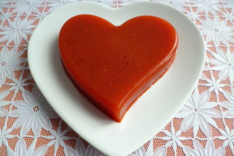 Flan coeur détox pomme poire orange carotte citron betterave cardamome à l'agar-agar