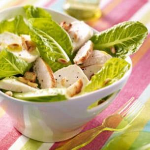 salade caesar au crottin de chèvre
