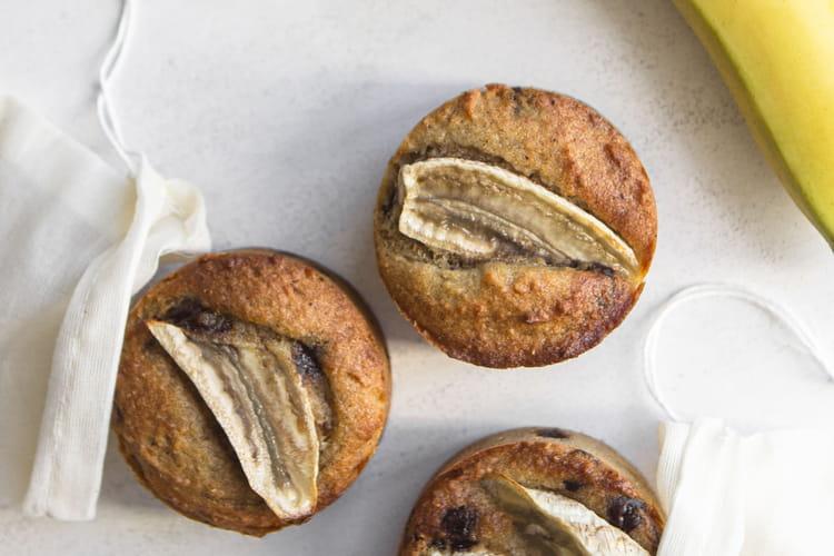 Banana muffin sans gluten