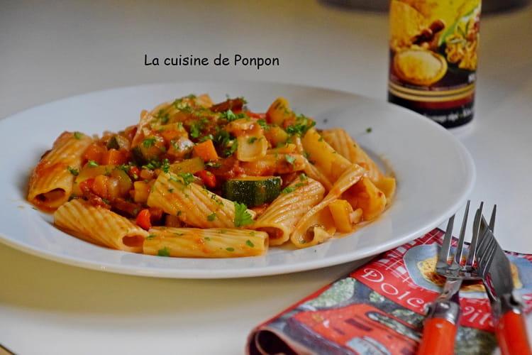 Pâtes aux courgettes, tomates et chorizo