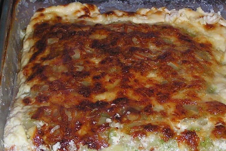 Gratin de ravioles aux courgettes et noix de muscade
