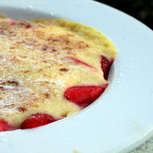 gratin de fruits rouges au sabayon de champagne