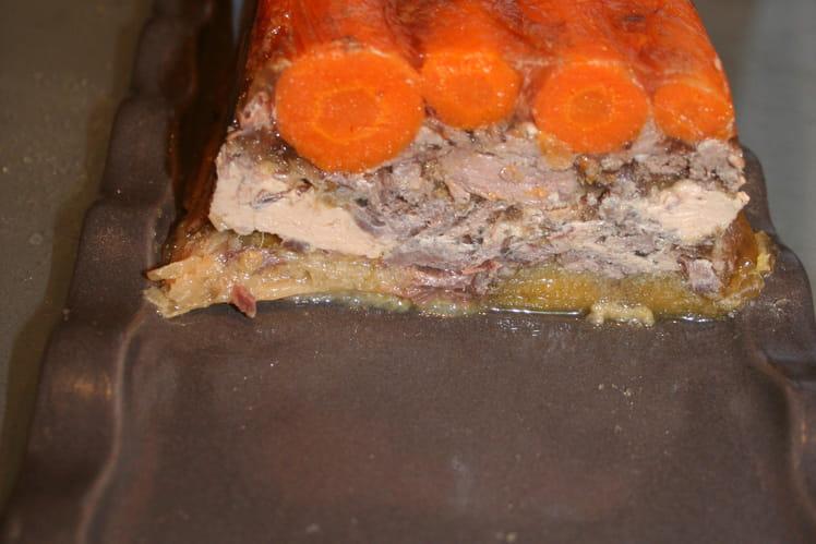 Pressé de boeuf au foie gras et ses légumes d'automne