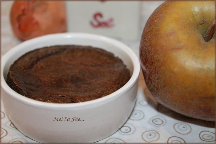 Soufflé au boudin noir et à la pomme