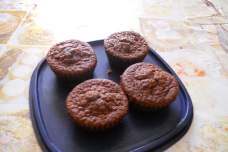 Muffins au chocolat noir