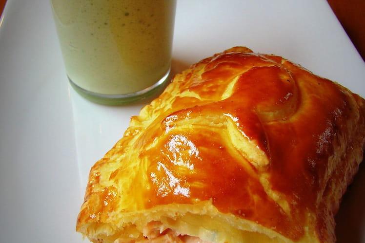 Feuilletés saumon-boursin et crème d'oseille