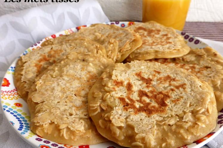 Pancakes au lait d'amandes et flocons d'avoine