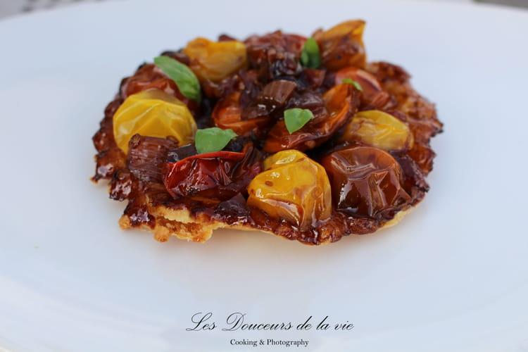 Tarte tatin de tomates et oignons de Roscoff