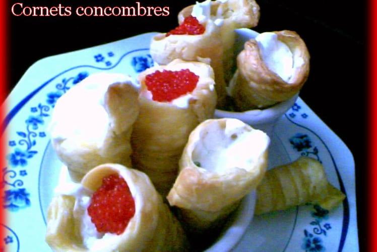 Cornets concombre