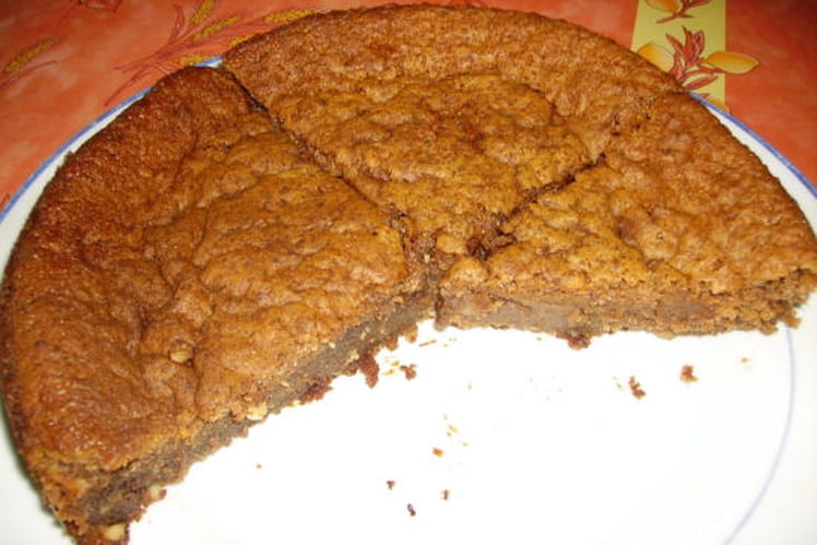 Choco fondant aux deux chocolats et aux cacahuètes