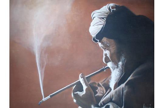 Le vieux à la cigarette