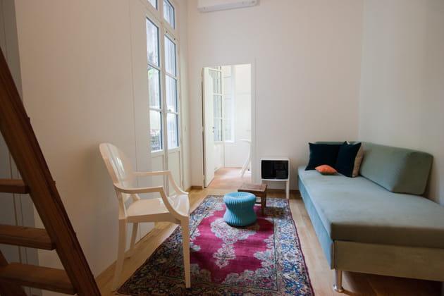 salon en longueur. Black Bedroom Furniture Sets. Home Design Ideas