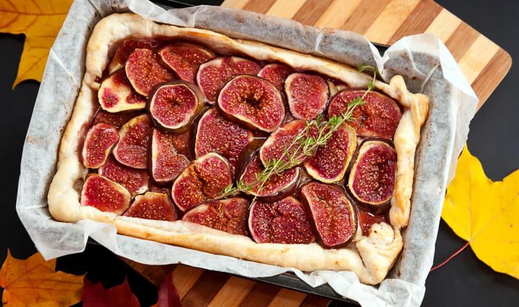 Recette de tarte aux figues la recette facile - Cuisiner des figues fraiches ...
