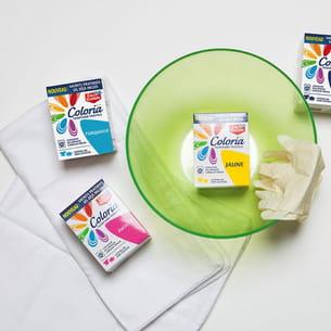 matériel nécessaire à la confection des coussins tie and dye