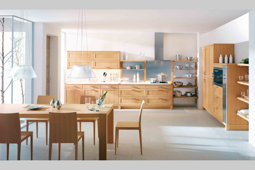 cuisine en bois le naturel revient au galop. Black Bedroom Furniture Sets. Home Design Ideas