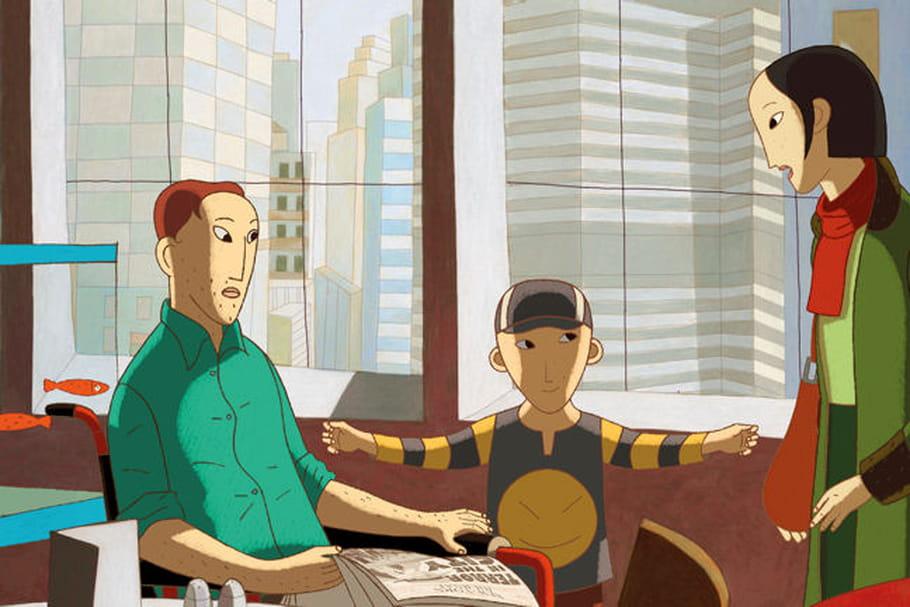 Phantom Boy : Audrey Tautou et Edouard Baer animés par ce dessin