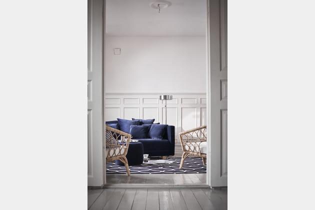 s jour naturel rotin et velours. Black Bedroom Furniture Sets. Home Design Ideas
