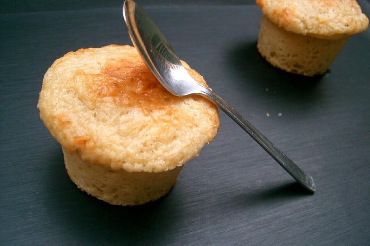 Muffins au coeur coulant de caramel
