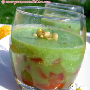 verrine fraîcheur concombre-tomate